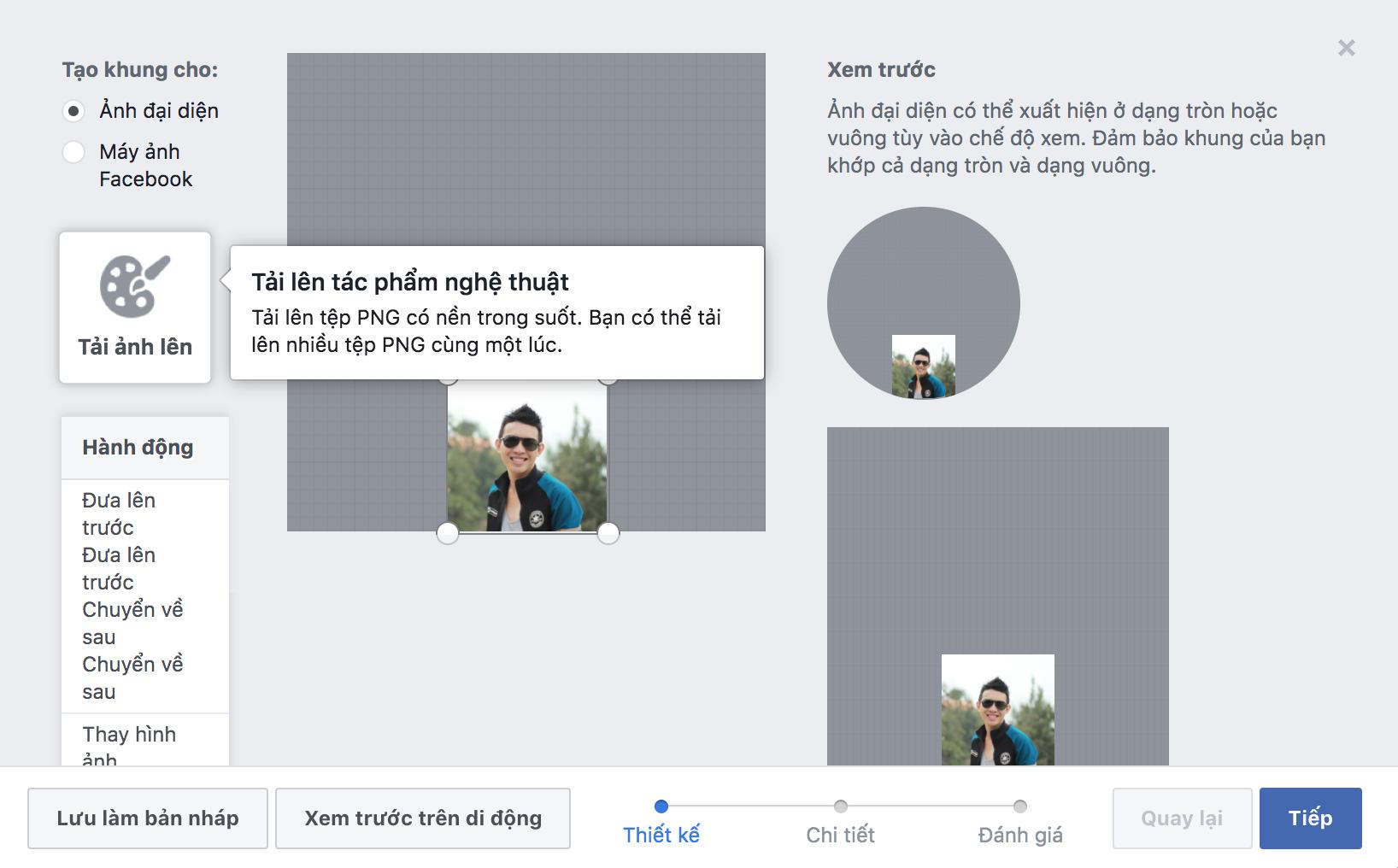5 Bước để tạo Frame Avatar Facebook 3